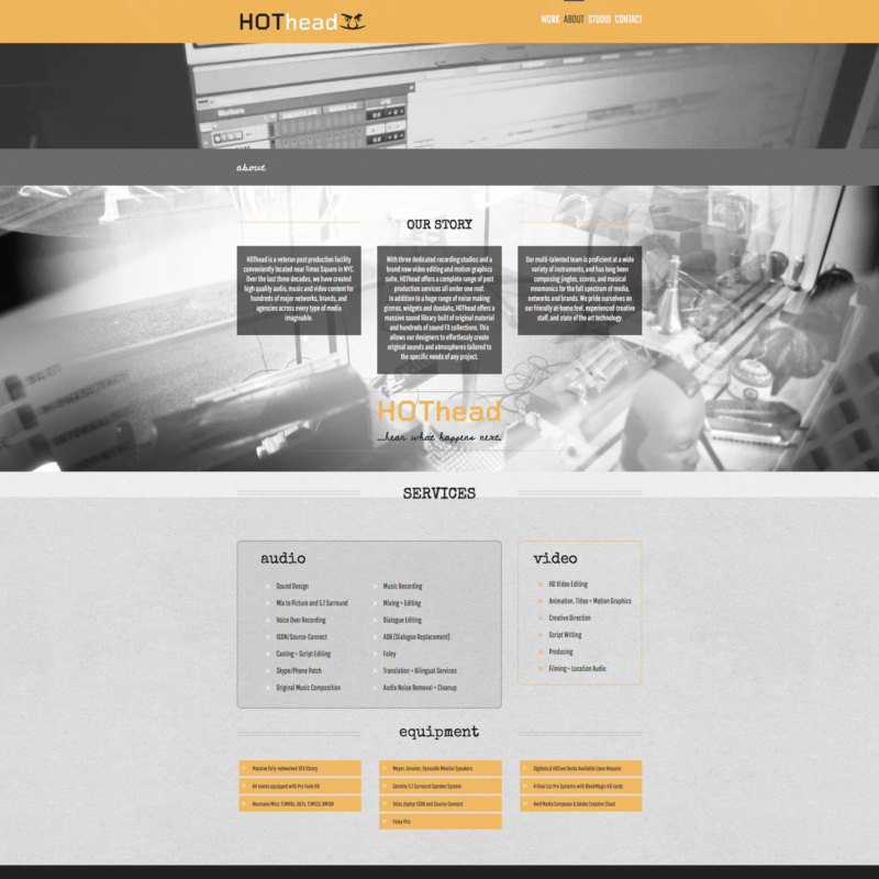 hothead studios | services