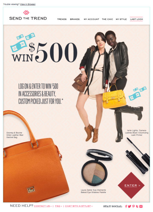 Win $500 Email